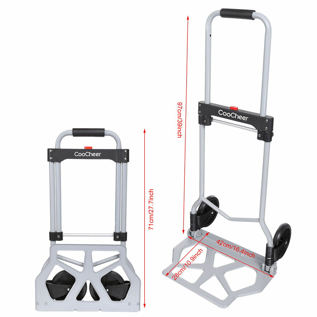 Industrial Folding Hand Truck Dolly 275 lb Capacity Silver 2
