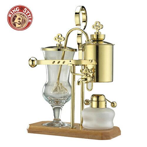 【Tiamo】比利時虹吸式咖啡壺 (金色)
