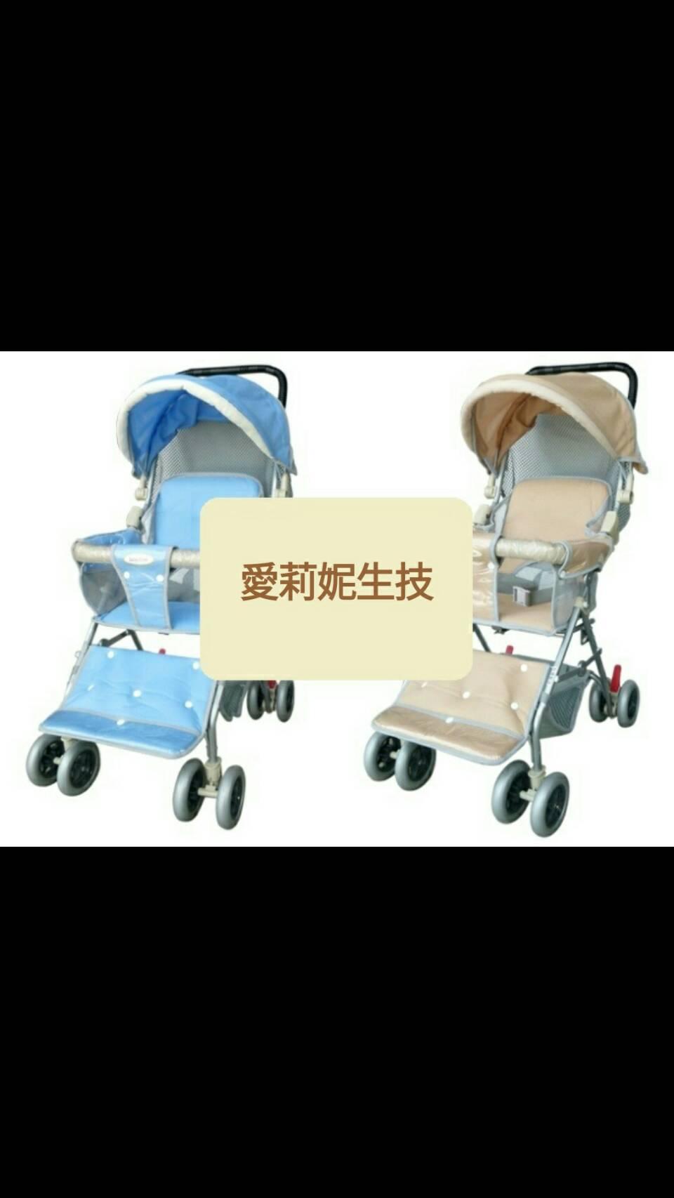 【Babybabe】 超大兩用輕便車 B502   (卡其/藍)