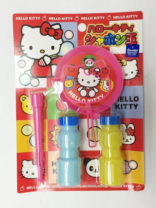 HELLO KITTY 吹泡泡 大頭造型 小朋友 兒童 玩具 39元 日本製 正版日本進口 * JustGirl *