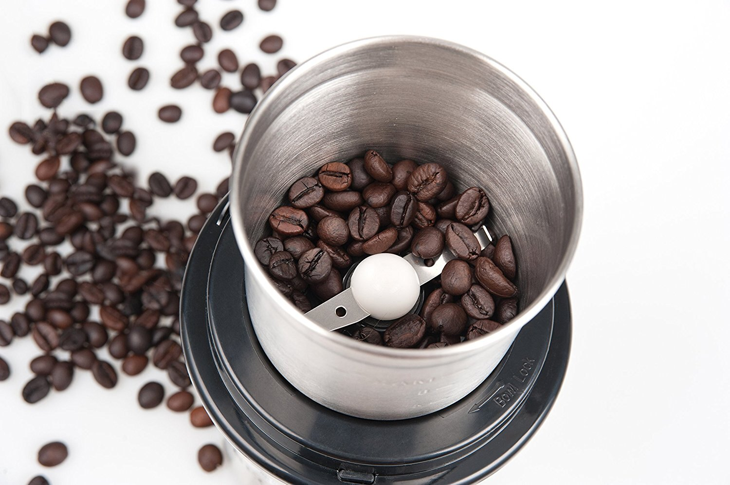 Secura Electric Coffee and Spice Grinder with Stainless Steel Blades Removable Bowl 6