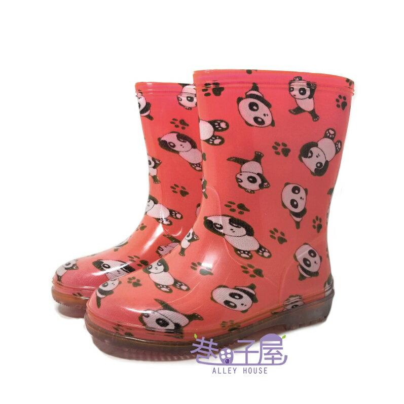 【巷子屋】童款熊貓造型雨鞋 雨靴 [9312] 粉色 MIT台灣製造 超值價$298