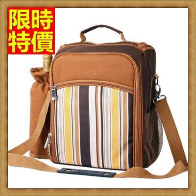 野餐包+2人餐具組肩背手提包包-咖啡雙人套裝便攜防水膠底野餐包+68ag9【獨家進口】【米蘭精品】