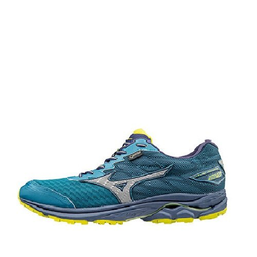 MIZUNO WAVE RIDER 20 G-TX 男鞋 慢跑 中高足弓 避震透氣 網布 藍綠 銀【運動世界】J1GC177405