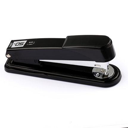 釘書機 得力加厚釘書機 可訂50頁學生辦公用訂書器中號大號省力型裝訂機手動定書機厚層釘釘書器釘書機壓書器訂本機『TZ1225』 2