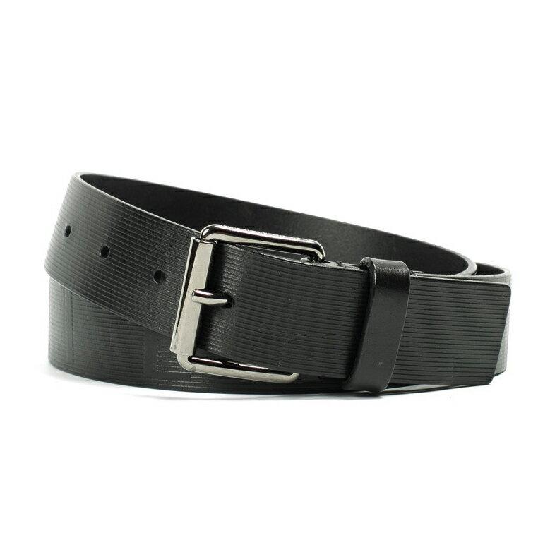 美國百分百【Armani Exchange】AX 男款 專櫃配件 皮帶 腰帶 小牛皮 黑色 30 32腰 F334