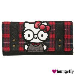 【LOUNGEFLY】凱蒂聯名款長夾(蘇格蘭凱蒂LFSANWA0817)