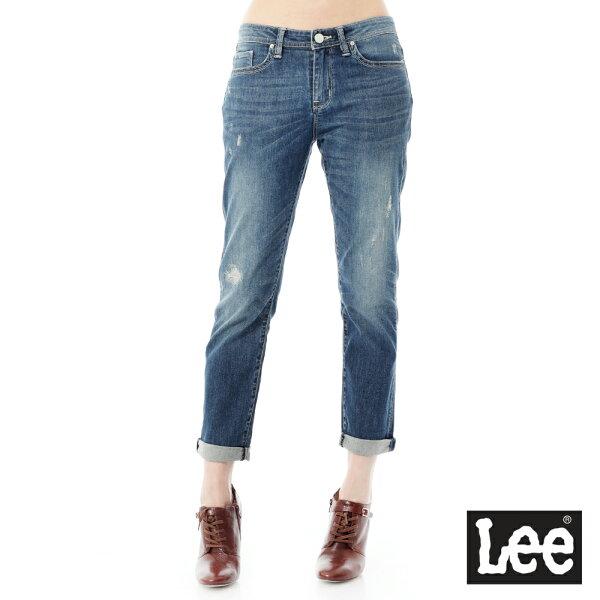Lee Jeans tw:Lee牛仔褲JadeFusion冰精玉石401中腰標準合身小直筒-女【單筆消費滿1000元全會員結帳輸入序號『CNY100』↘折100