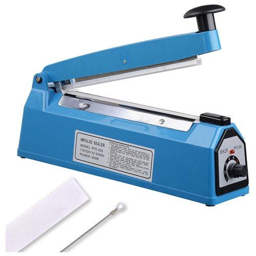 "8"" Impulse Manual Sealer Heat Sealing Machine Poly Tubing Plastic Bag Spare Teflon 0"