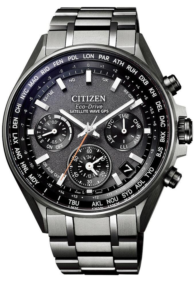 CITIZEN星辰 CC4004-58E 光動能GPS衛星對時鈦金屬時尚男錶