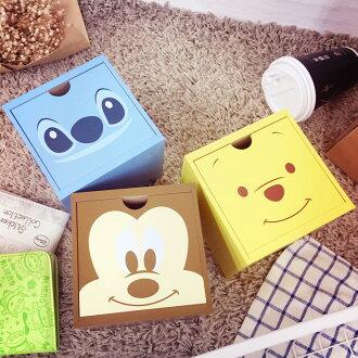 PGS7 迪士尼系列商品 - 迪士尼 大臉 方塊 積木 收納盒 木盒 米奇 熊抱哥 維尼 史迪奇