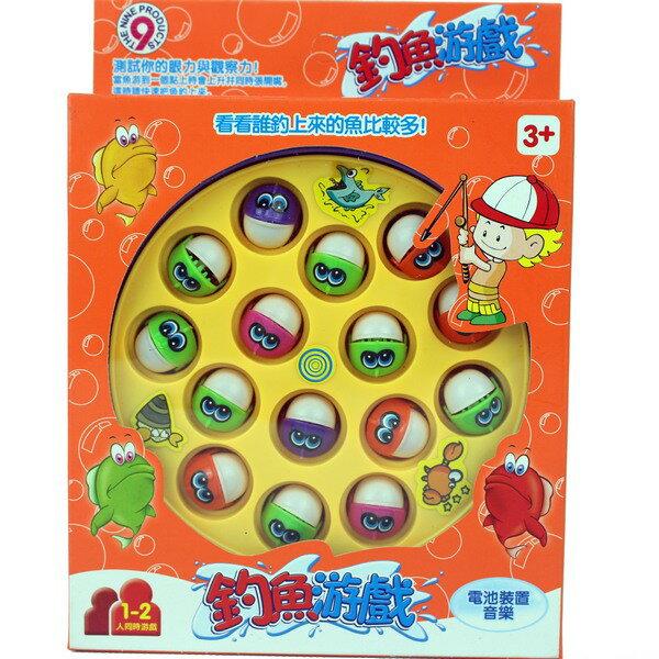 中釣魚組 電動釣魚盤 D453 釣魚童玩(方型/附電池)/一個入{促150}~生.睿685-09