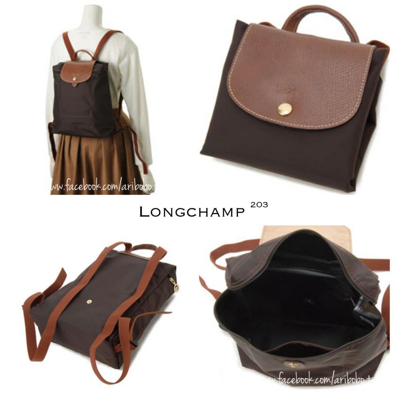 【LONGCHAMP】 LE PLIAGE 咖啡色折疊後背包 3