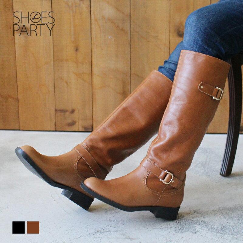 【B2-17430L】全真皮雙扣率性乘馬靴_Shoes Party 0
