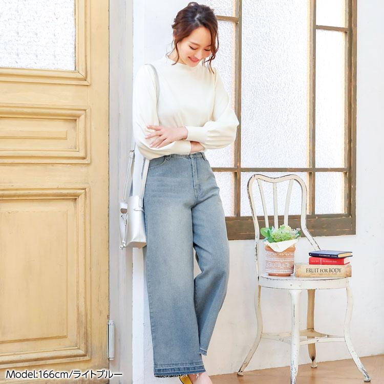 日本Kobe lettuce / 寬版牛仔長褲 / 日本必買 日本樂天代購 / mobacaba-m2405 (1287)。滿額免運 4