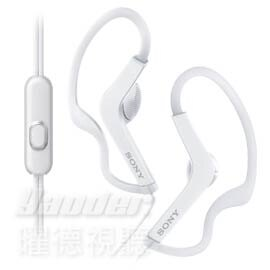 【曜德★新上市】SONY MDR-AS210AP 白 防水運動耳掛式耳機 免持通話 ★免運★送收納盒★