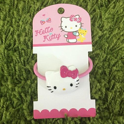 【真愛日本】17080400003 2D造型髮束-KT粉 三麗鷗 kitty凱蒂貓 髮圈髮飾美髮用品