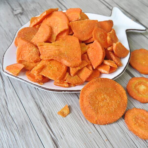 【璽富水產】紅蘿蔔蔬果脆片100g包