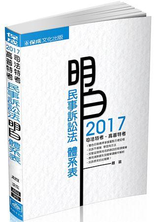 民事訴訟法-明白 體系表-2017司法特考.高普特考(保成)