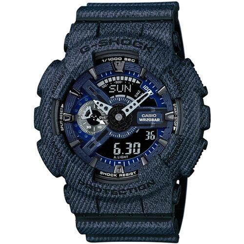 大高雄鐘錶城:CASIOG-SHOCKGA-110DC-1A牛仔單寧流行時尚腕錶51mm
