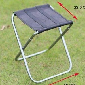 美麗大街【0022】超輕款釣魚馬扎MINI迷你可折疊椅子鋁合金凳子(290克)