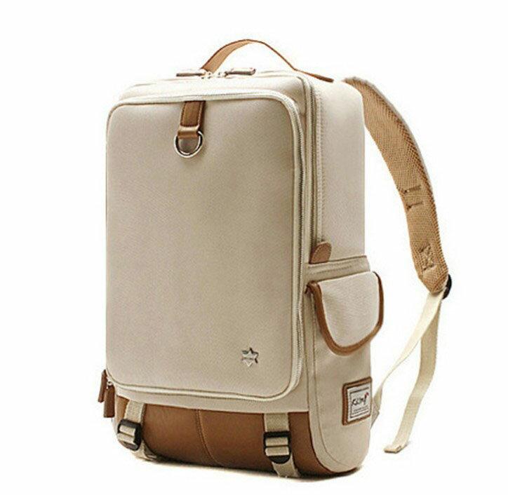 韓國代購 高品質 簡約男性公事14.15吋筆電雙背包 經典包 0
