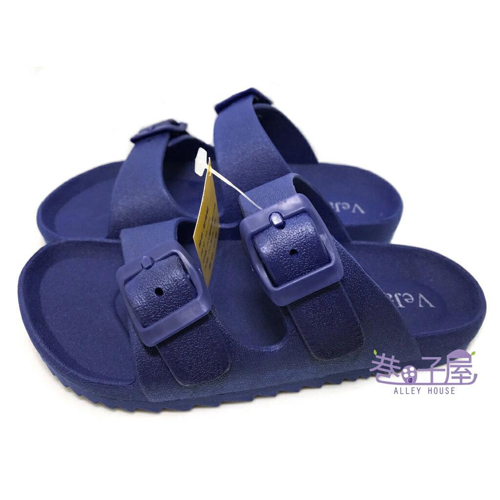 【巷子屋】童款一體成型防水勃肯拖鞋 藍色 MIT台灣製造 [2616] 超值價$198