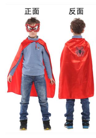 X射線【W275957】30蜘蛛小超人眼罩披風組,萬聖節服裝/化妝舞會/派對道具/兒童變裝/表演/蜘蛛人/復仇者聯盟/cosplay/頭套