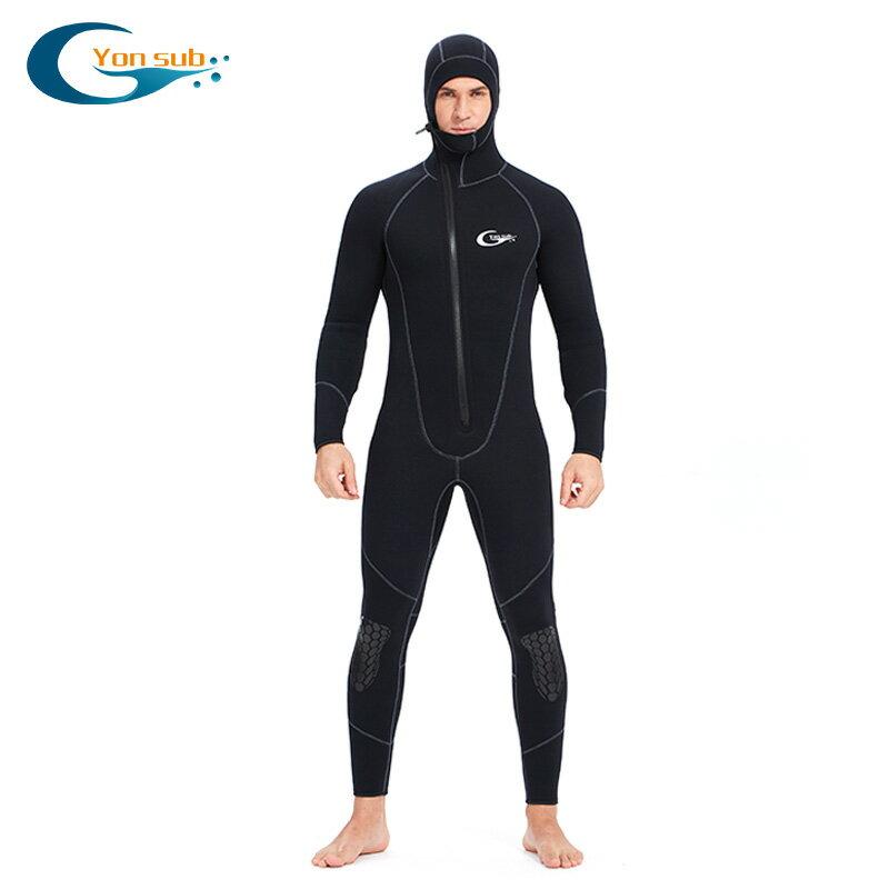 潛水衣男女潛水服連體加厚水母衣5mm前冬泳裝備保暖防