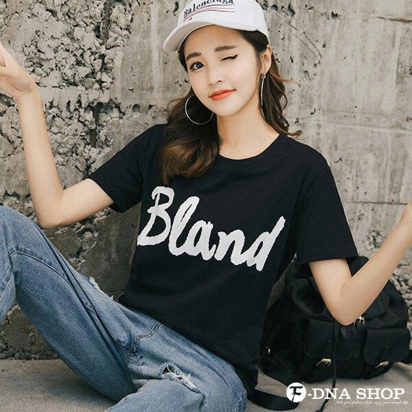 F-DNA★BLAND英文印花圓領短袖上衣T恤(2色-M-2XL)【ET12695】 2