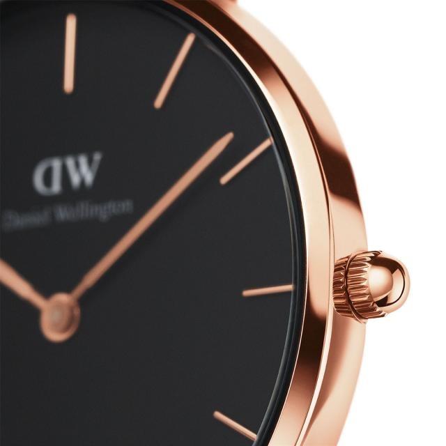 DW Daniel Wellington 丹尼爾惠靈頓 Classic Black Petite Melrose 米蘭風格時尚腕錶 DW00100161 玫瑰金 黑 32mm 2