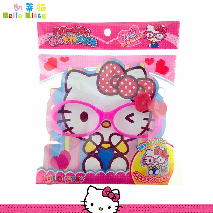 Hello Kitty 凱蒂貓 蝴蝶結 造型眼鏡玩具 蝴蝶結 眼鏡框玩具 三麗鷗 日本進口正版 012149