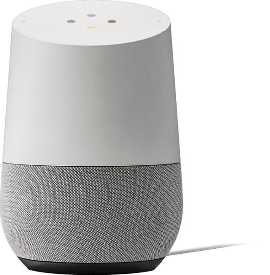 Google Home Smart Assistant Voice-Activated Wireless Speaker (White Slate)