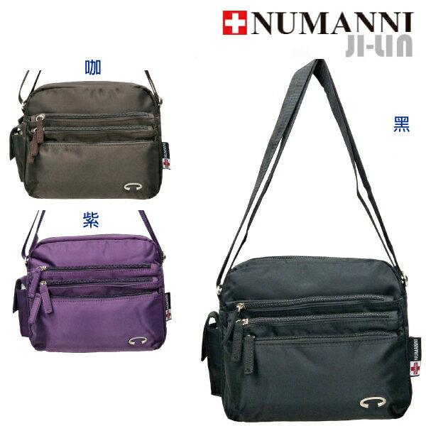 25-7807【NUMANNI 奴曼尼】多口袋個性尼龍側背包 (三色)
