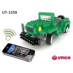 【UTICO微型積木】智慧手機遙控積木車-Jeep 吉普車 1559