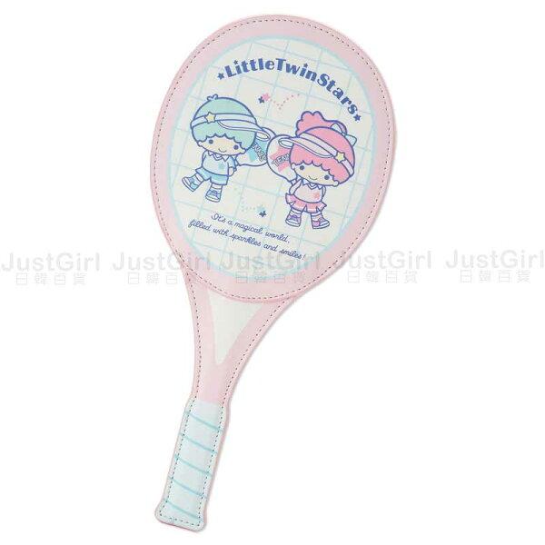 三麗鷗雙子星票卡套證件套票卡夾證件夾網球拍造型文具正版日本進口JustGirl