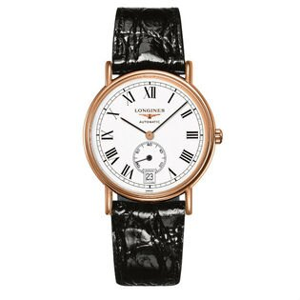 LONGINES浪琴表當代系列L48051112經典羅馬小秒針腕錶白面38.5mm