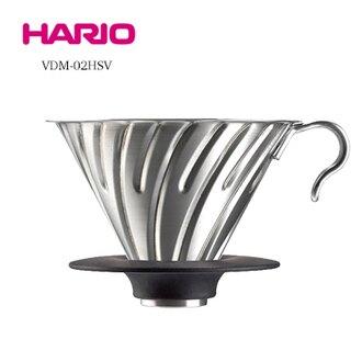 金時代書香咖啡 HARIO V60白金金屬濾杯 1-4杯 VDM-02HSV