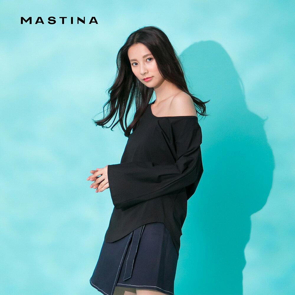 【MASTINA】不規則衣襬設計-女長袖上衣(二色/魅力商品/版型適中)