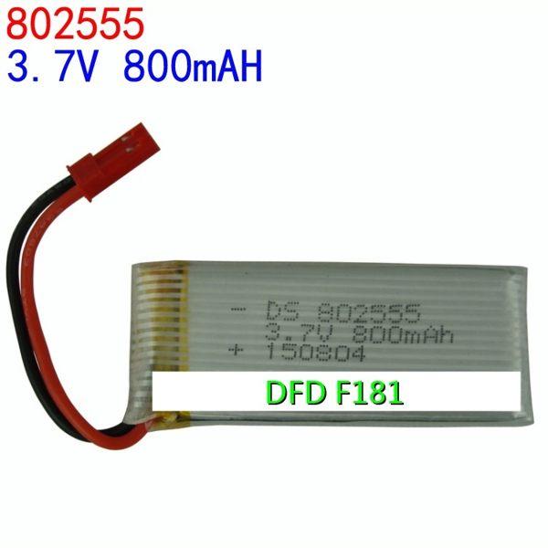 大容量 電池 (800mAH) DFD F181 四軸 遙控飛機 直升機 空拍機【塔克】