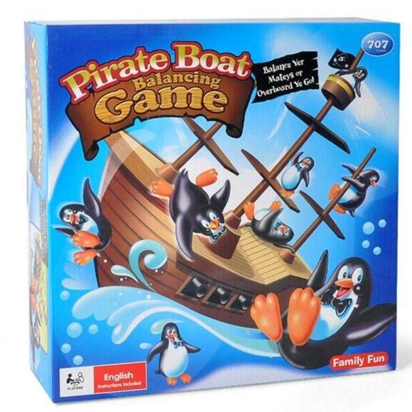 桌遊玩具 船轉企鵝 海盜企鵝疊疊樂 諾亞方舟 驚濤駭浪 驚險企鵝海盜船 別讓企鵝掉海底【塔克】