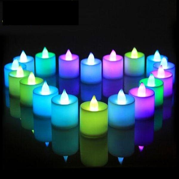 七彩 LED 蠟燭 LED蠟燭燈 排字蠟燭(單色 七彩皆有) 24HR火速出貨 小夜燈 安全蠟燭【塔克】