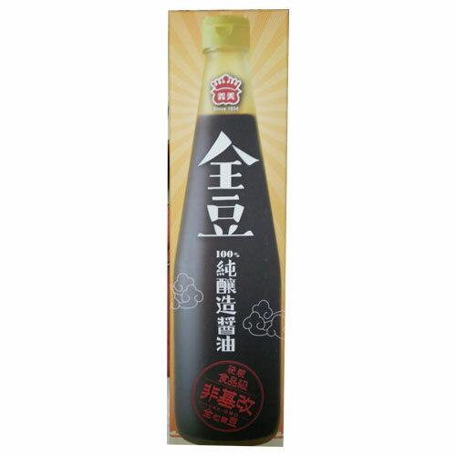 義美全豆純釀造醬油520ml【愛買】