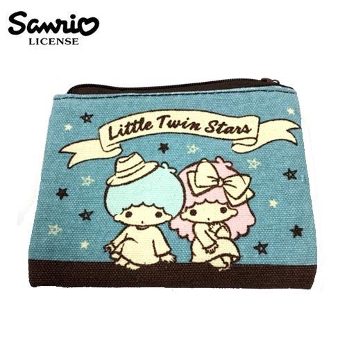 【日本正版】雙子星 KIKILALA 帆布 零錢包 卡片包 小物收納 三麗鷗 Sanrio - 443733