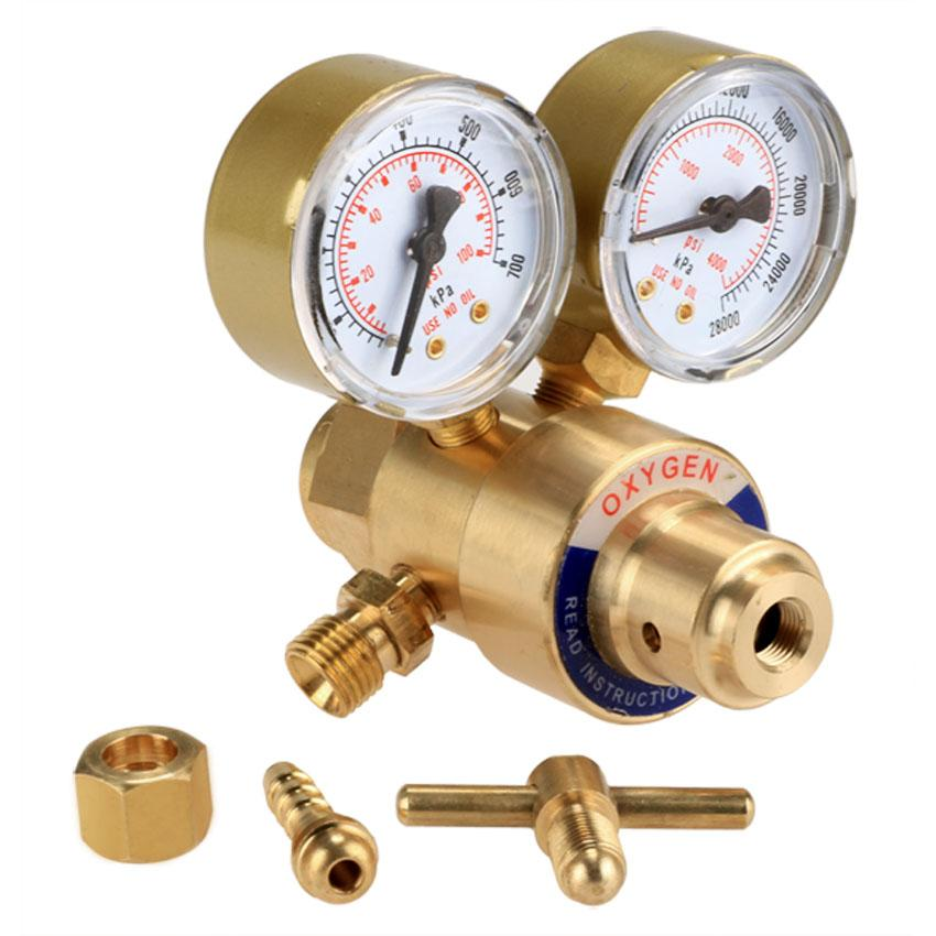 Rear Mount Oxygen Gas Welding Welder Brass Regulator Pressure Gauge 0