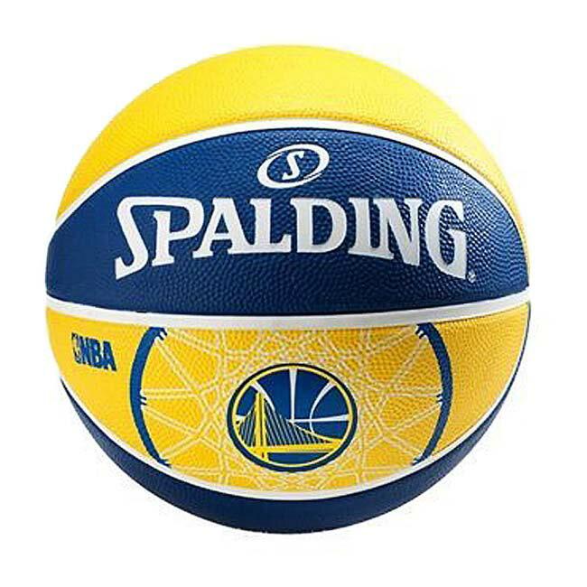 [陽光樂活]SPALDING NBA 勇士隊 隊徽橡膠籃球(7號) SPA83304