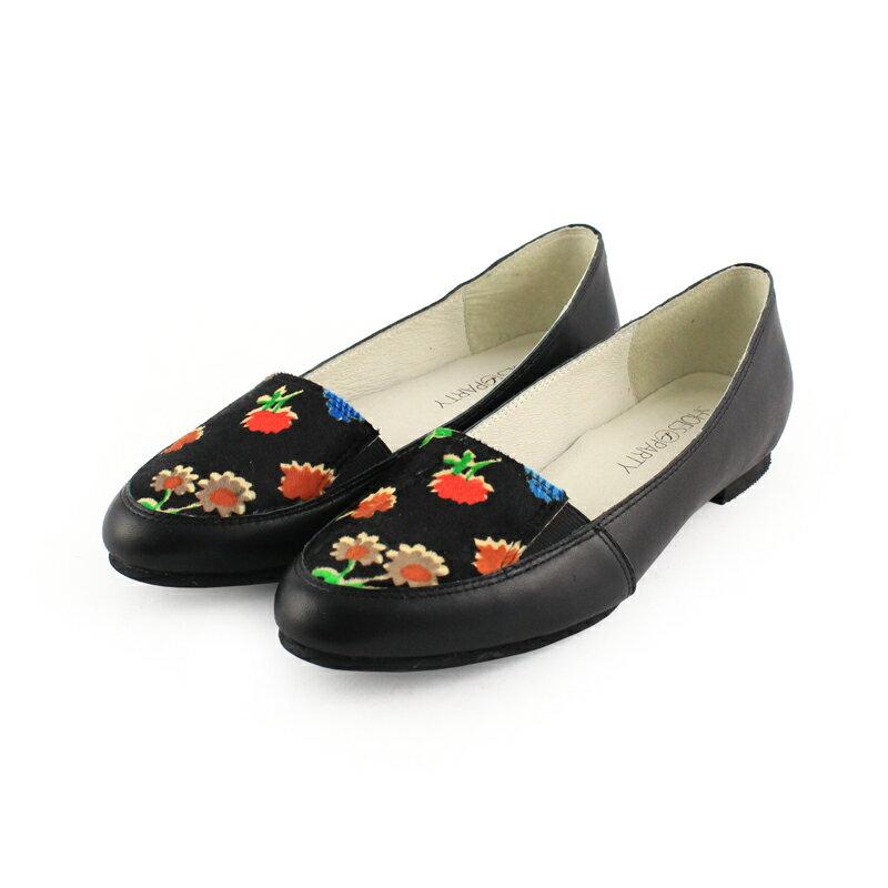 【 C2-17315L】真皮鬆緊帶歐貝拉_Shoes Party 3