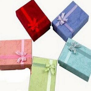美麗大街【PLGBOX2】長方形緞帶蝴蝶結飾品耳飾戒指包裝禮盒紙盒