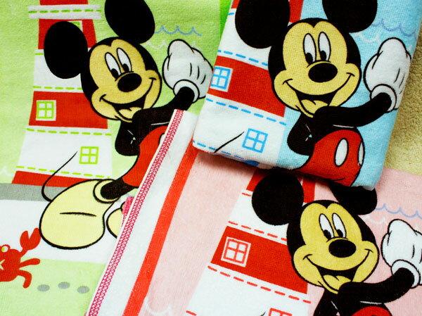 【Disney迪士尼-BPD829A】燈塔米奇小浴巾 1入
