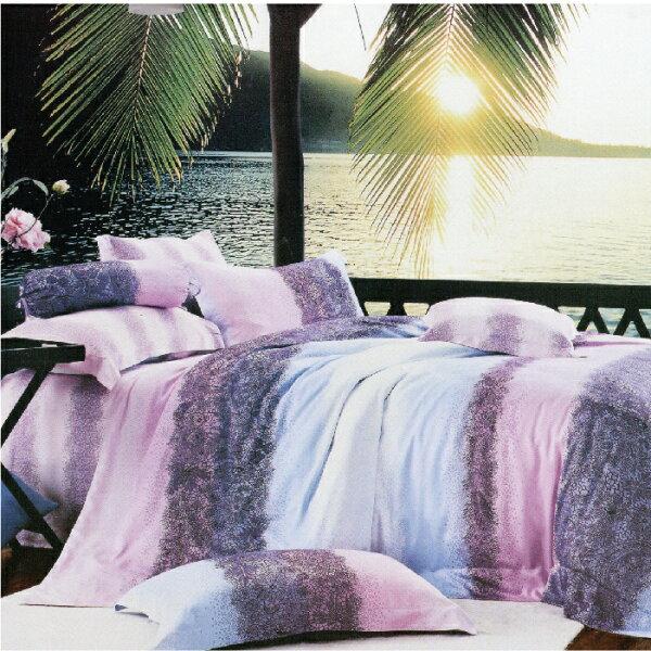 【名流寢飾家居館】水漾年華.100%天絲.超柔觸感.標準雙人床包組